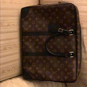 Louis Vuitton Black Macassar Briefcase